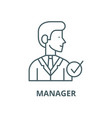 manager line icon linear concept outline vector image vector image
