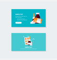 medicine template for web banners in flat style vector image