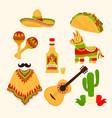 mexico stickers vector image