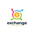 money change chat logo currency exchange news vector image vector image
