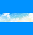 narrow horizontal banner with realistic vector image vector image
