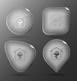 Pharmacy Glass buttons vector image