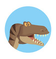 raptor dinosaur cartoon vector image vector image