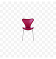 realistic seating element of vector image vector image