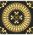 seamless floral gold pattern vector image vector image