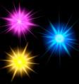 set glow light effect vector image