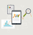 Set of web analytics information and development vector image