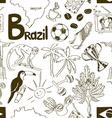 Sketch Brazil seamless pattern vector image vector image