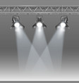 stage with projectors vector image