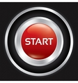 Start button on Carbon fiber background vector image vector image