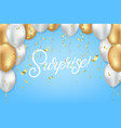 surprise celebrate template vector image vector image