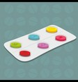 tablets background vector image vector image