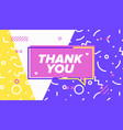 thank you in design banner template vector image