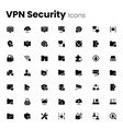 virtual private network vpn security icon set vector image