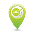 wheel pump icon green map pointer vector image vector image
