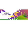 world animal day banner wild jungle anteater vector image vector image