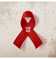 World Awareness AIDS Day Realistic red Ribbon vector image