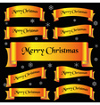 yellow shiny color merry christmas slogan curved vector image vector image