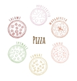 Different Kinds of Pizza vector image