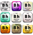 A periodic table button showing the Bohrium vector image
