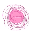 Abstract pink frame vector image vector image