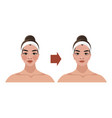 aging process a woman age-related changes vector image