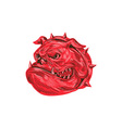 Angry Bulldog Head Drawing vector image vector image