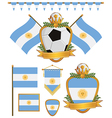 argentina flags vector image