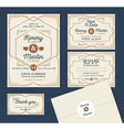 Art Deco Letterpress Wedding Invitation Design vector image vector image