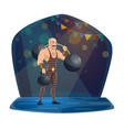 athlete dumbbell and barbell chapiteau circus vector image