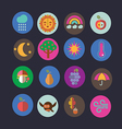 autumn icons design vector image