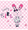 Background with cute rabbit vector image vector image