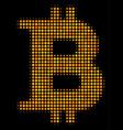 bitcoin halftone icon vector image
