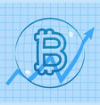 bitcoin rising price bubble vector image vector image