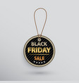 black friday sale tag vector image vector image