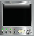 black screen monitor with dashboard vector image vector image