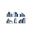 building logo icon vector image vector image