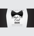 business card elegant black tie event invitation vector image
