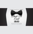 business card elegant black tie event invitation vector image vector image