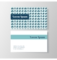 business card template with modern circle design vector image vector image