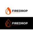 business emblem drop water flame icon flame vector image vector image