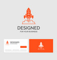 business logo template for rocket spaceship vector image