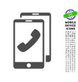 cell phones icon with set vector image vector image