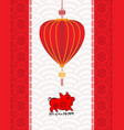 chinese new year background year of the pig vector image vector image