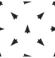 christmas tree pattern seamless black vector image vector image