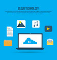 cloud computing technology with laptop vector image vector image