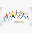 colorful poster with marathon vector image vector image
