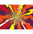 comic book explosion ray red yellow purple vector image vector image