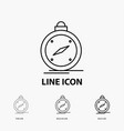 compass direction navigation gps location icon in vector image vector image