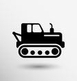 crawler tractor icon button logo symbol concept vector image